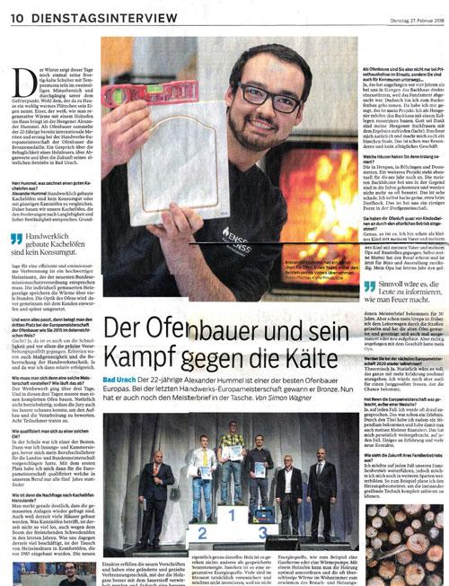Einer der besten Ofenbauer Europas Alexander Hummel im Interview